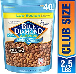Blue Diamond Almonds Low Sodium Lightly Salted, 40 oz