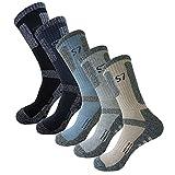SEOULSTORY7 5Pack Men's Climbing Cushion Hiking/Performance Crew Socks...
