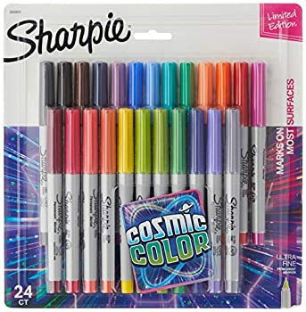Sharpie Permanent Markers Ultra Fine Point Cosmic Color Limited Edition 24 Count