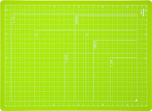 ナカバヤシ カッターマット 折りたたみカッティングマット A4 グリーン CTMO-A4G