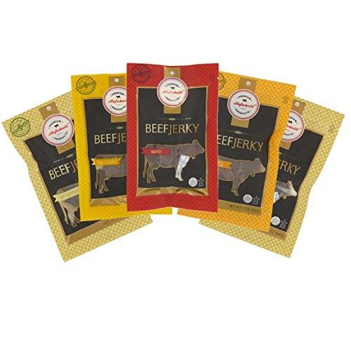 Aufschnitt Grass Fed Beef Jerky - Variety Pack - 5 pack (2...