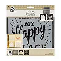 (Home Sweet Home 3/Pkg) - FolkArt Craft Stencils Value Pack 20cm x 20cm