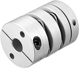 8mmx10mm Abrazadera Apretado Eje del motor 2 Acoplador de acoplamiento de diafragma L45xD34