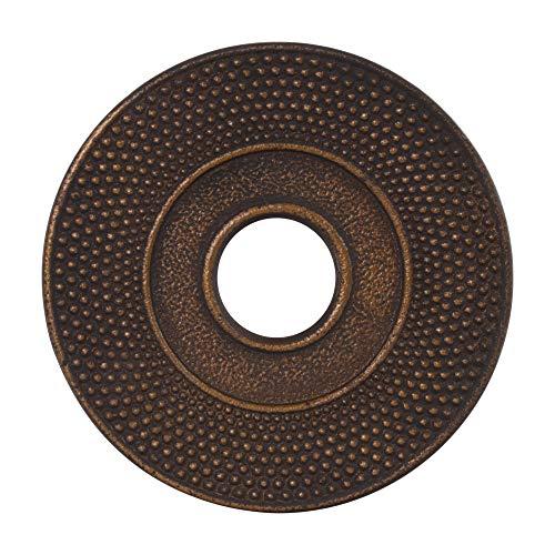 Tealøv SALVAMANTELES para TETERAS Ø 14 cm | REPOSATETERAS de Hierro Fundido | con Pies de Goma Antideslizantes | Protege la Mesa | Complemento Teteras de Hierro Fundido | Cobre