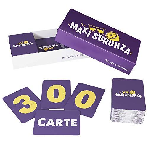 ZENAGAME Maxi Sbronza - 300 Cartes - Gioco da Tavolo - Il Gioco dell'alcool per Le vostre Serate - Gioco da Tavolo per Adulti, Gioco dell'alcool