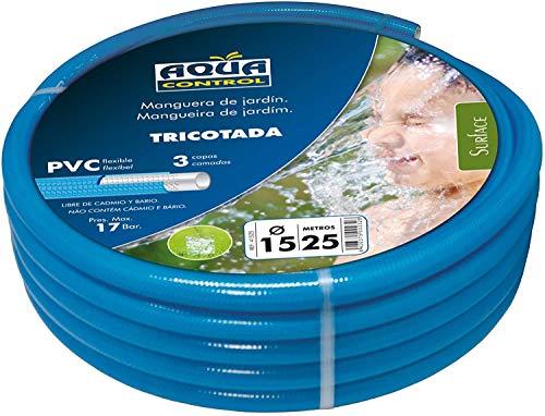 AQUA CONTROL 41525-Tuyau d'arrosage 15 mm x 25 m Bleu