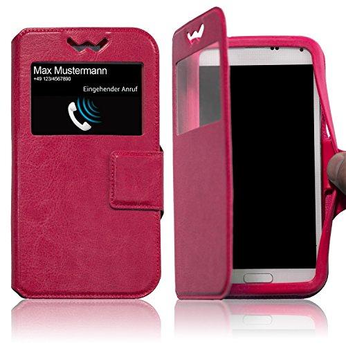 Schutzhülle Pink für Archos 55 Platinum Hülle Flipcase Case Tasche Kunstleder