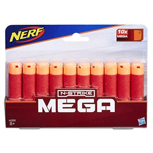 Hasbro A4368EU7 Nerf Darts 10er-Nachfüllpack für Nerf Mega Blaster - offizielle Nerf Mega Darts - für Kinder, Jugendliche und Erwachsene
