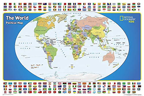 National Geographic: The World for Kids Wall Map (36 x 24 inches) (National Geographic Reference Map)
