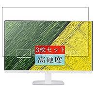 3枚 Sukix フィルム 、 Acer HA270 bbix/abi / HA270bbix / HA270abi 27インチ ディスプレイ モニター 向けの 液晶保護フィルム 保護フィルム シート シール(非 ガラスフィルム 強化ガラス ガラス )