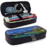 Estuche para lápices, Estuche para lápices, Estuche para lápices, Portabolígrafos de gran capacidad Paisaje Swiss Alp Mountain Meadow 20cm * 9cm * 4cm
