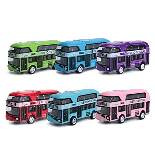 ZOUCY model voor kinderen, 1:43 auto model dubbeldekker Londen bus legering Diecast voertuig speelgoed voor kinderen jongens - kleur willekeurig