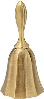 Belons Hand Bell Call Bell Alarm Alloy Desktop Bell Dinner Bell Reception Bell Service Bell School Bell Library Bell Christams Bell, Bronze