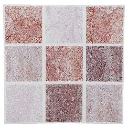 Mumusuki 18Pcs Mosaico de Azulejos de Transferencia Stick Autoadhesivo DIY Backsplash Stick-on Vinyl Wall Tiles para Cocina y baño(04)