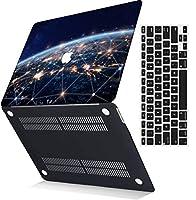 MSXUANプラスチック製のハード保護シェルカバーケース+USキーボードカバーは新しいMacBook Pro 13インチとのみ互換性あり/タッチバーなし(2016-2020リリース)(モデル:A2159 A1989 A1706 A1708)、銀河 0197