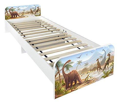 Letto per bambini in legno Dimensioni:200 x 90 motivo Dinosauri Jurassic