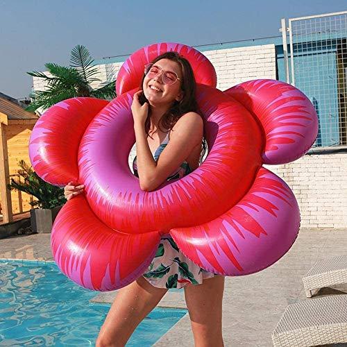 Mopoq Gonfiabile Pool Galleggianti Pool Fiore Tubi gonfiabili Tubo Piscina Galleggiante a Forma di Fiore Anello Gonfiabile di Nuotata for L'Estate Beach Water Fun Gonfiabile Lounger