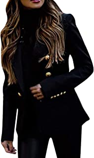 Fashion Blazer Women OL Elegant Long Sleeve Solid Color Jacket Casual Cardigans Suit