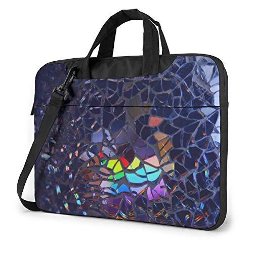 Laptop-Einkaufstasche, mehrfarbige zerbrochene Brille Schützende Laptop-Umhängetasche mit Griff für 13-15.6 in Notebook