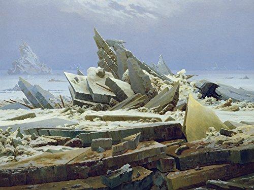 Artland Alte Meister Kunst Wandtattoo Caspar David Friedrich Bilder Romantik 45 x 60 cm Das Eismeer Kunstdruck Klebefolie Gemälde R0LS