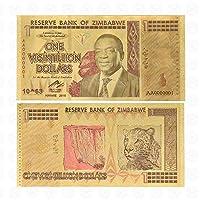 XMSM ジンバブエ$ Z100兆/ 100 Quintrillion / 5 Octillion / 100 Decillionドル金箔紙幣のレプリカ紙幣ビジネスギフト (色 : Gold 1 Vigintillion)