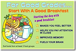 For Good Grades... Start with a Good Breakfast - Classroom Health Poster