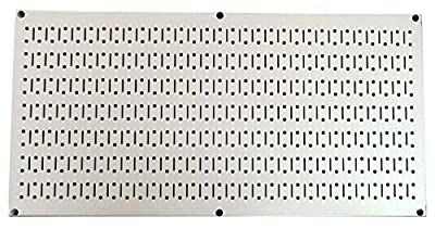 """Wall Control 30-HP-1632 16"""" x 32"""" Horizontal Metal Pegboard Tool Board Panel"""