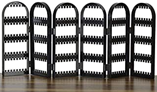 POLOILY Display Earring Acrylic Holder Makeup Jewelry Organizer Black Color 6 Panels