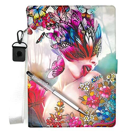 Lovewlb Tablettes Coque pour Auchan Qilive Q8t7in4g Coque Etui Housse Support Intégré Multi-Angle,Cuir Tablet Case Cover HD