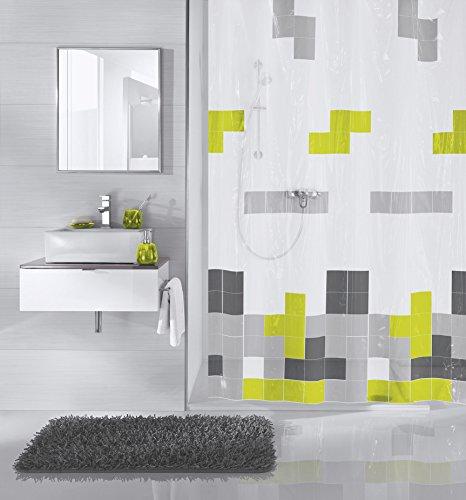 Meusch 2384645305 Duschvorhang Pixie, 180 x 200 cm, grün