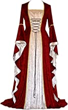 CCOOfhhc Victorian Vintage Dress-Womens Irish Medieval Dress Costume Retro Gown Cosplay Costumes Hollow Flare Long Dress