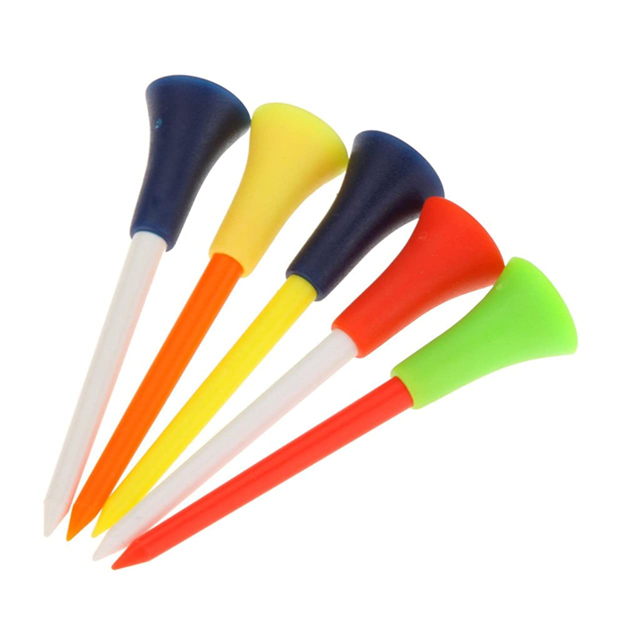 アーティスト気質学んだBETTER YOU (ベター ュー)  ゴルフ用品 ラウンド用品 ゴルフティー ロング 72mm カラフル ランダムで発送 50本セット