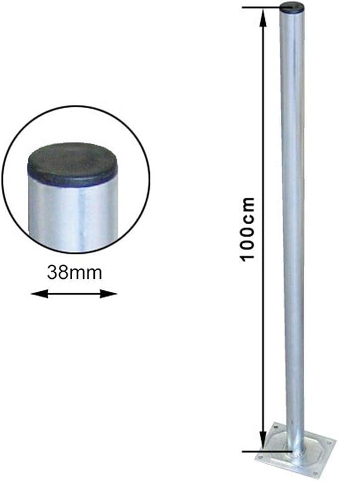 Premiumx 60cm Ø 50mm Standfuß Aluminium Antennen Mast Rohr Ständer Mastfuß Flachdach Halterung Für Satellitenschüssel Sat