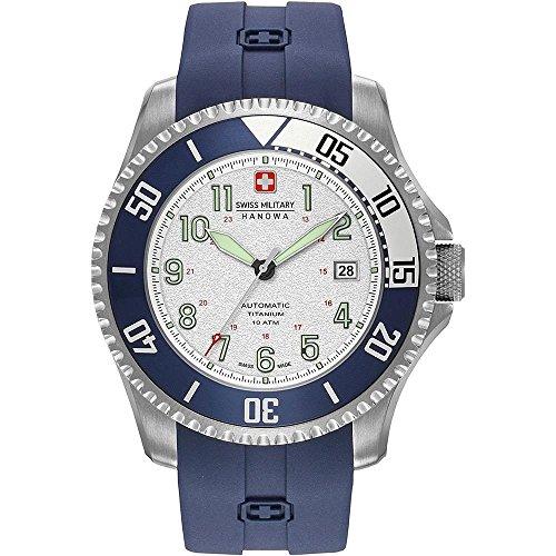 Swiss Military Hanowa Reloj Analógico para Hombre de Cuarzo con Correa en Silicona 05-4284.15.001