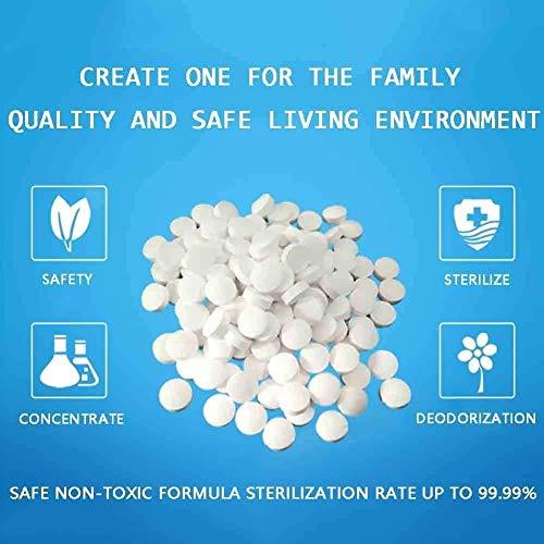 {2 pcs}84 tabletas efervescentes desinfectantes tabletas de desinfección con dióxido de cloro esterilización doméstica ropa interior para el hogar desinfección spray de agua