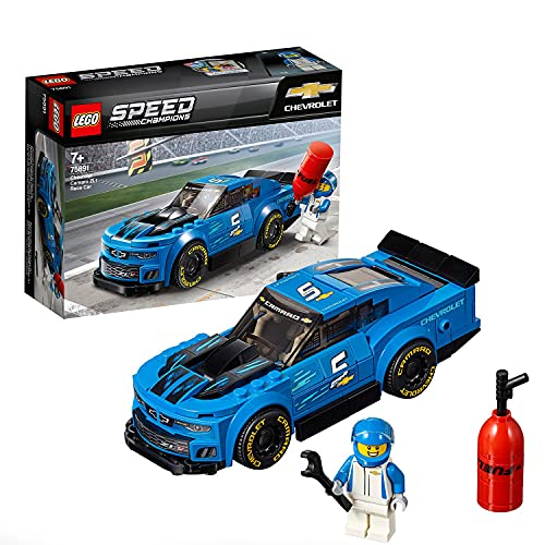 LEGO SpeedChampions AutodaCorsaChevroletCamaroZL1, Macchine da Corsa da Collezione, 75891