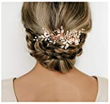 SWEETVSweetTV - Peineta de boda con diamantes de imitación para novias y damas de honor, , ,  Rose gold,, 1.00[set de ]