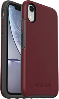 OtterBox SYMMETRY SERIES Case for iPhone XR - Retail Packaging - FINE PORT (CORDOVAN/SLATE GREY)