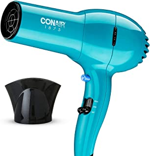 Conair 1875 Watt Full Size Pro Hair Dryer with Ionic Conditioning, Teal