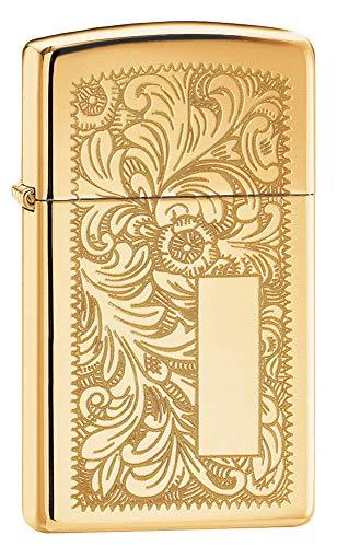 Zippo Venetian Brass Slim Mechero, Metal, High Polish, 3.5x1x5.5 cm