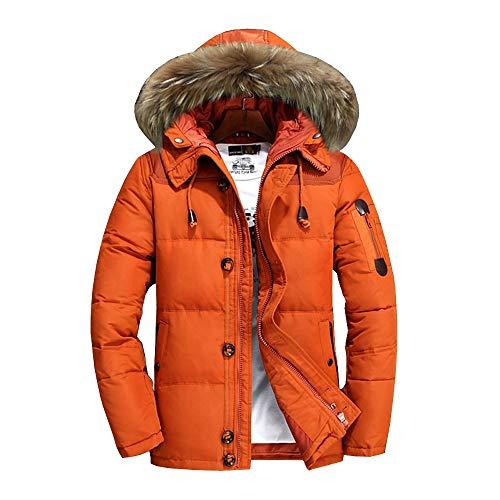 De sterke Heatig donsjas voor heren, winter met capuchon, handsome tieners studenten jas, winterjas temperatuur instelbaar geschikt voor de winter sport in de open lucht (kleur: B, maat: XXXL)
