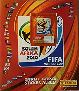 Panini 2010 World Cup South Africa Empty Sticker Album. 8-Sticker Pack Affixed!