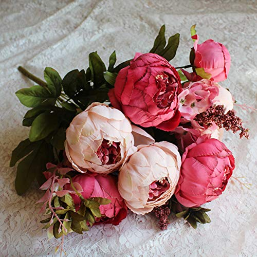 13 Tête/pc Artificielle Simulation Pivoine Fleurs Parfums Noyau Pivoine Faux Fleurs De Mariage Maison Décoration