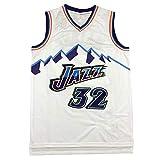 Camiseta de Baloncesto NBA para Hombre, Retro Jersey Swingman Basketball Camisetas, (Karl.Malone) # 32, Chaleco de Gimnasia Top Deportivo Ropa, XS-XXL (Color : Style-2, Size : M)