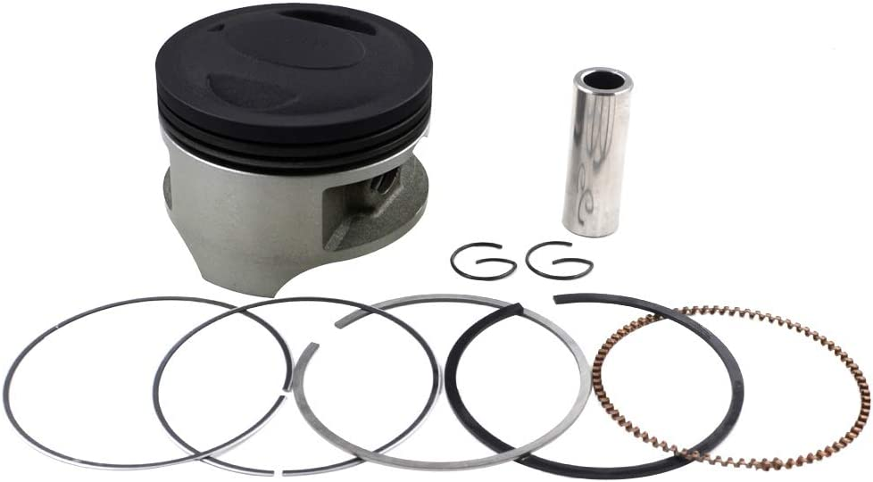Oversize +25 66.25mm AHL Piston and Piston Rings Pin Clips Kit for Suzuki SP200 1986-1988//DF200 1986-2000//DR200SE 1996-2013//RV200 Van Van 2017//DR200 42A 1986-1991//DR200S 2015-2017