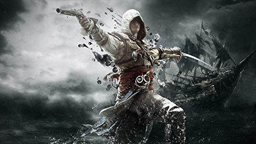 Adult Jigsaw Puzzle 1000 Assassin's Creed Black Flag Edward Kenway Exquisitos coleccionables y regalos de cumpleaños, juegos de rompecabezas clásicos,