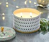La Jolíe Muse Duftkerze Groß 400g 100% Sojawachs Weißer Tee Kerze in Dose 2 Dochte 80Std Muttertag Geschenk - 4