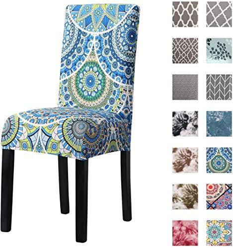 Mazu Homee cubierta de la silla de comedor, cubierta de la protección del asiento, tela de spandex suave estirable y lavable, utilizado en hotel familiar restaurante banquete de boda restaurante