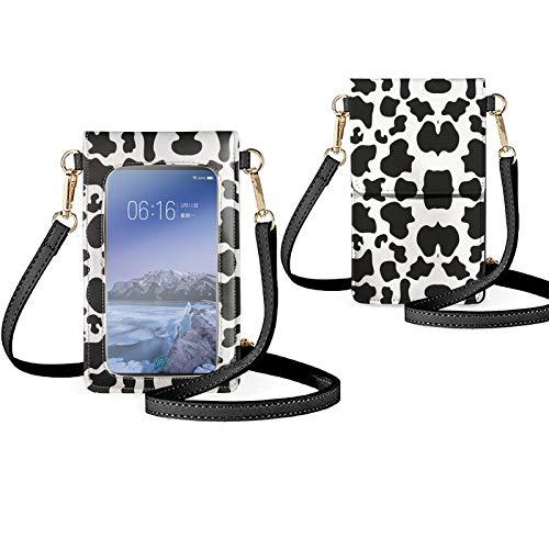 Biyejit Bolso pequeño del teléfono de la pantalla táctil del Crossbody para las mujeres, bolsos del hombro del teléfono móvil titular de la tarjeta monedero