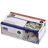 Ulith - Guantes de nitrilo desechables, 200 unidades, sin látex y sin polvo, para ambas manos, no estéril, desechables